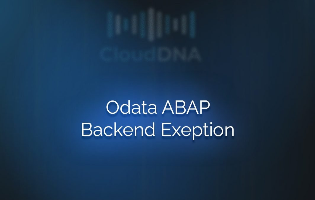 OData ABAP Backend Exception lernen