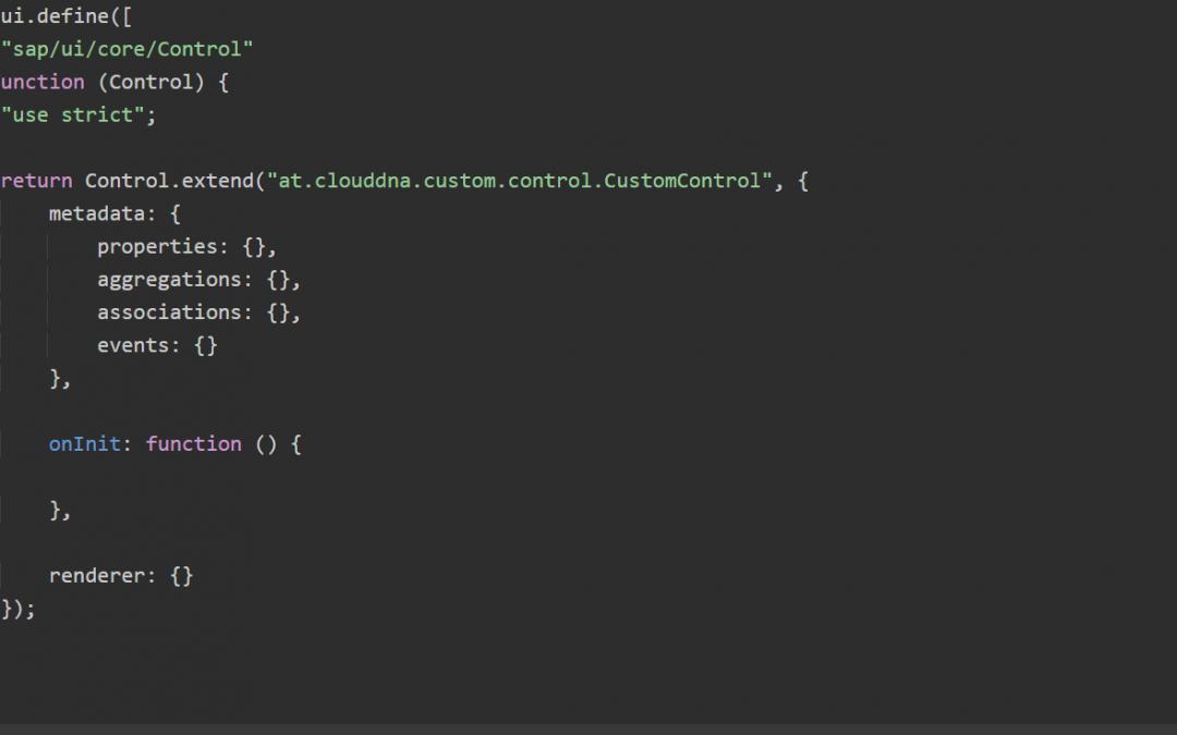 SAPUI5 Custom Controls – Teil 2