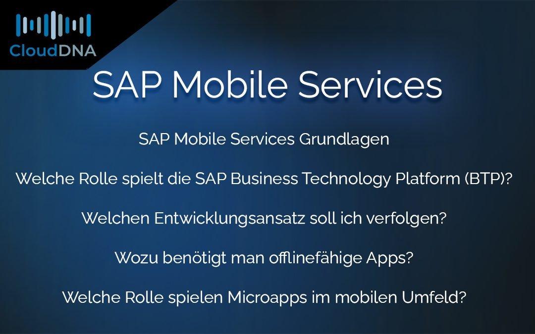SAP Mobile Services Grundlagen | SAP MS
